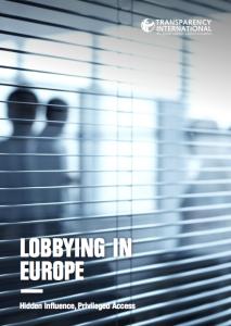 Lobbying in Europe